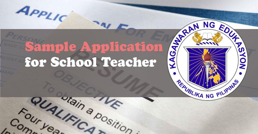 Sample Application Letter Resume Cv For Teachers Deped Tambayan