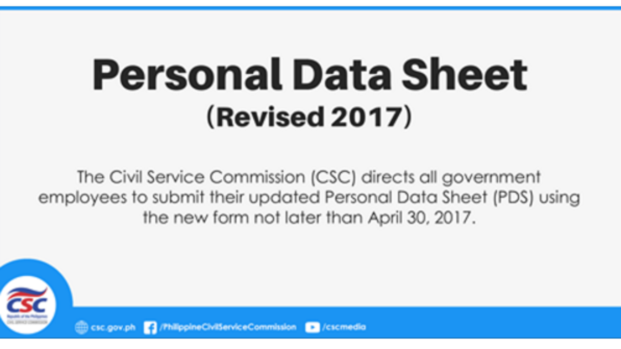 CS Form No  212 Revised Personal Data Sheet 2018 - DEPED