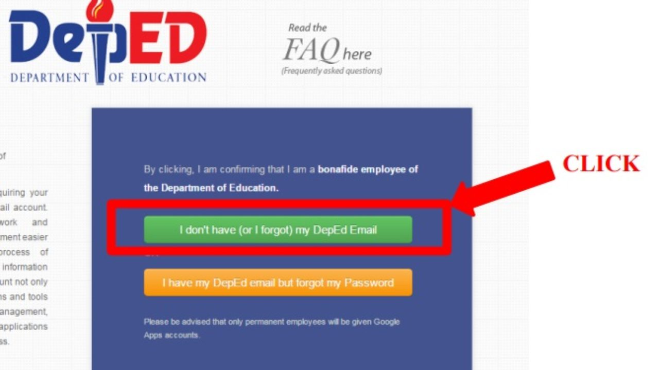 How to Register, Verify and Reset Password for DepEd Email